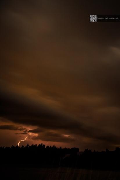 Storm and lightning @ night