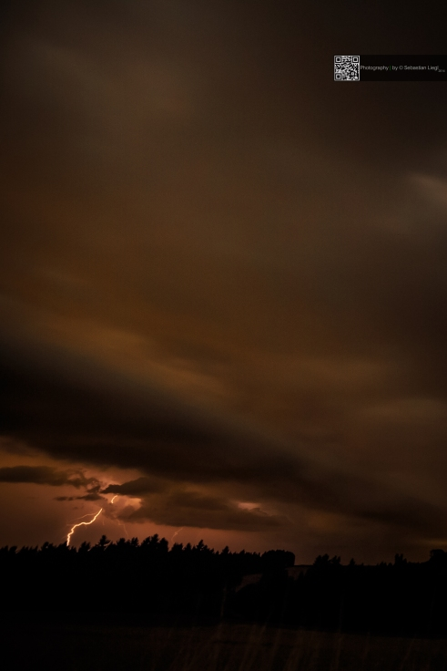 Storm and lightning @ night